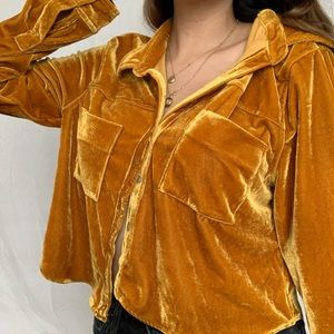 golden button up blouse from forever 21